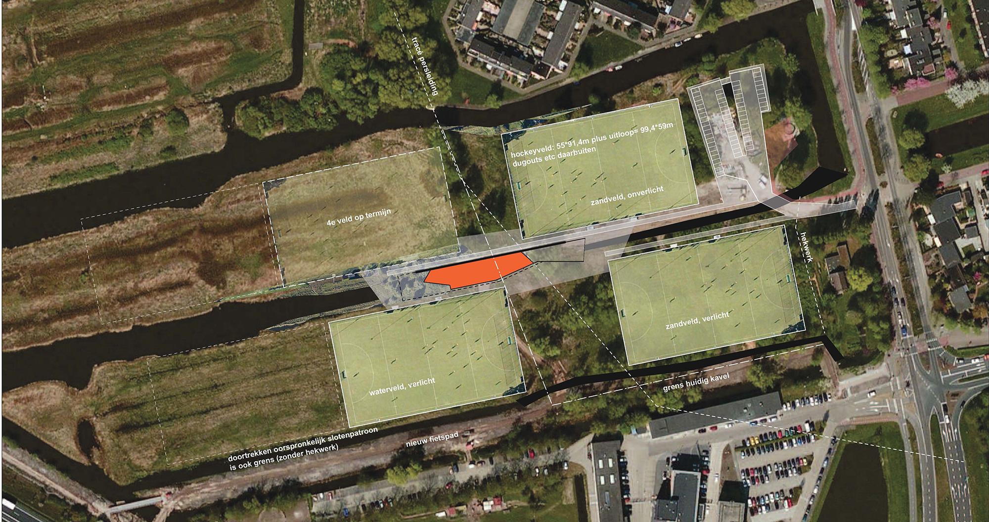 locatie Fortuinweg met 4 velden